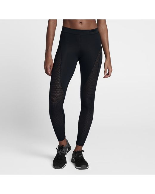 a004285f266129 Lyst - Nike Pro Hypercool Women's Training Tights in Black