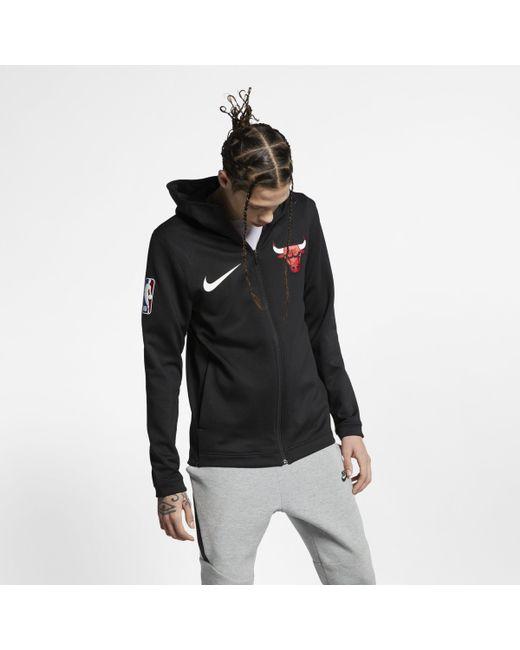 247698e79 Nike - Black Chicago Bulls Therma Flex Showtime Nba Hoodie for Men - Lyst