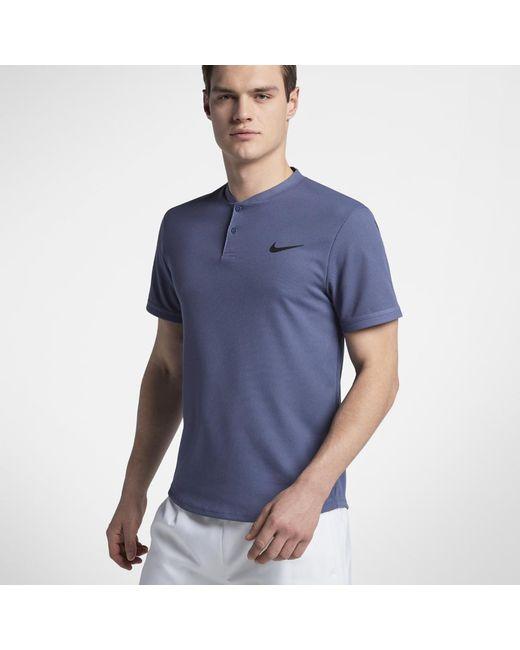 73a0f2700 Lyst Nike Court Dri Fit Advantage Men S Tennis Polo Shirt In Blue