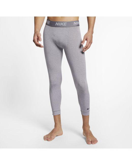 30dc098c823d4 Nike - Gray Dri-fit 3/4 Yoga Training Tights for Men - Lyst ...