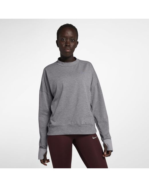 51abb8c1 Nike Therma-sphere Element Long-sleeve Running Top in Gray - Lyst