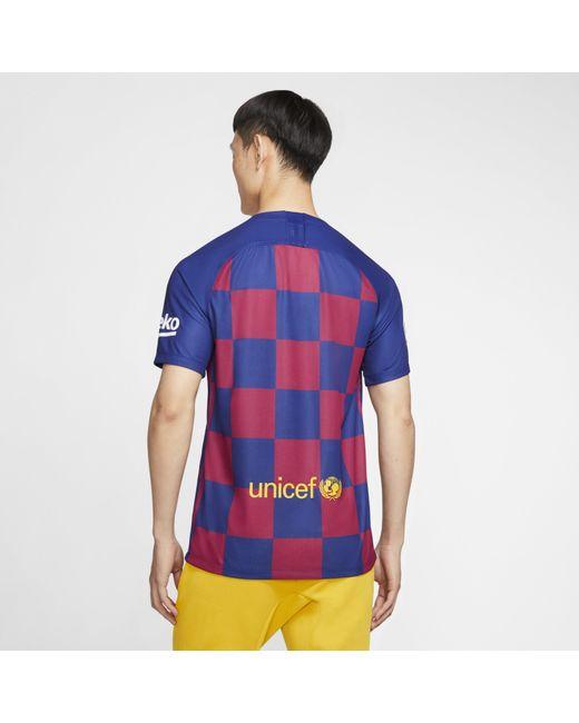 478876ed3 ... Nike - Blue Fc Barcelona 2019/20 Stadium Home Football Shirt for Men -  Lyst ...