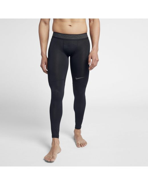 2d7a26423dc6f Nike Pro Hypercool Training Tights in Black for Men - Lyst