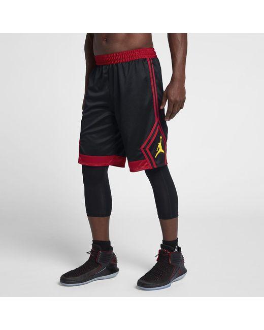 0b4161d3078b Nike - Black Rise Diamond Men s Basketball Shorts