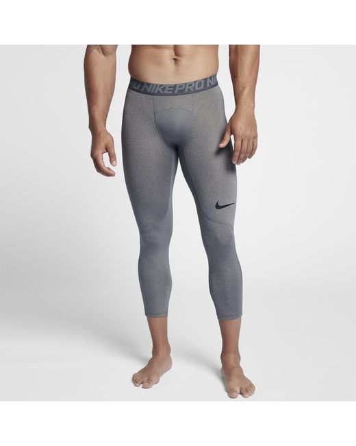e9b25aa88f65d Lyst - Nike Pro Men's 3/4 Training Tights in Gray for Men