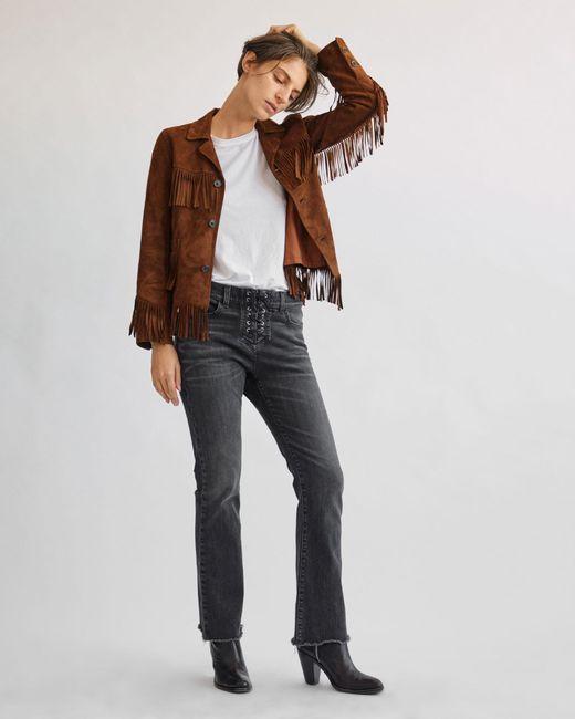 Brown Lotan Jacket Nili Lyst Goatskin Frida a5xqgY