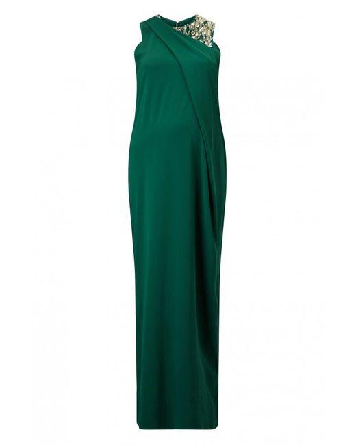 By Malene Birger | Green Embellished Crepe Misanta Dress | Lyst
