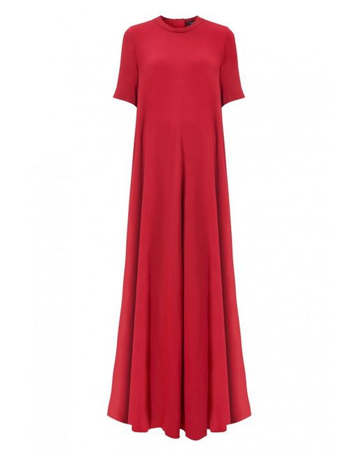 Lanvin | Red Crepe Gown | Lyst