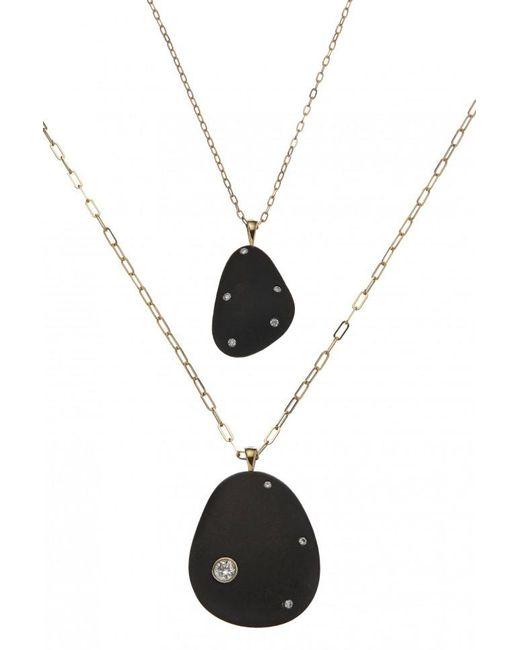 Cvc Stones - Mother And Child Black Crescent Stone Necklace Set - Lyst