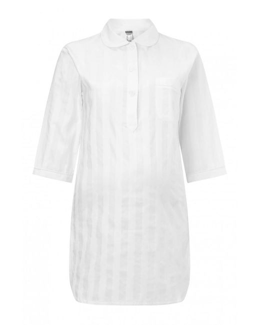 Bodas | White Shadow Strip Pyjama Shirt | Lyst