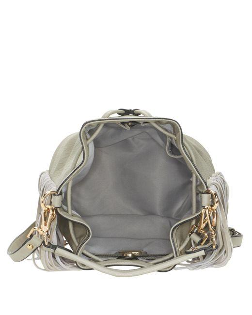 Nine West   Gray Pammy Fringed Bucket Bag   Lyst