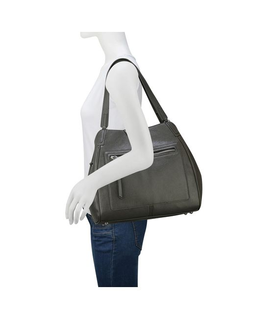 Nine West | Gray Just Zip It Shoulder Bag | Lyst