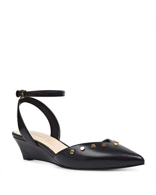 Nine West | Black Ereena Pointy Toe Wedges | Lyst