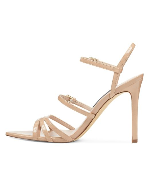 cac0fc2ea Nine West Gilficco Strappy Sandals in Natural - Save 56% - Lyst