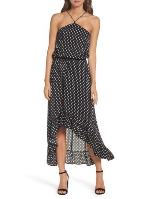 Fraiche By J | Black Halter Maxi Dress | Lyst