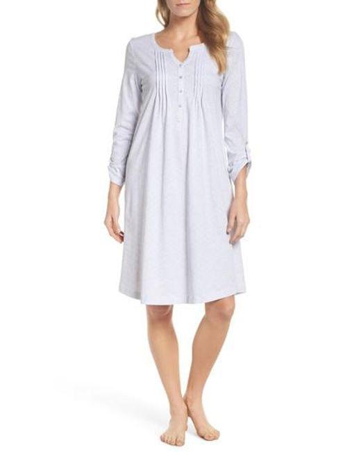Carole Hochman - White Cotton Jersey Waltz Nightgown - Lyst