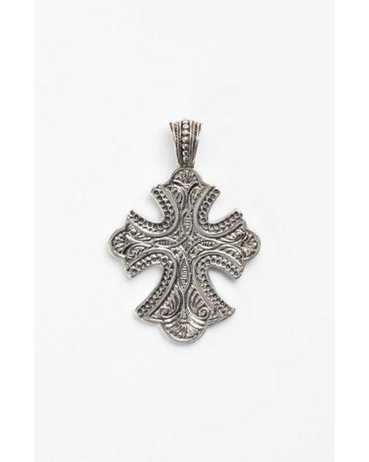 Konstantino   Metallic 'classics' Cross Pendant Necklace   Lyst