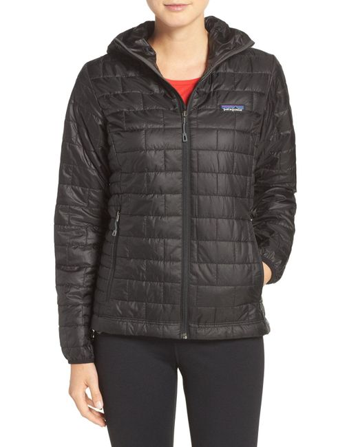 Patagonia - Gray Nano Puff Hooded Water Resistant Jacket - Lyst