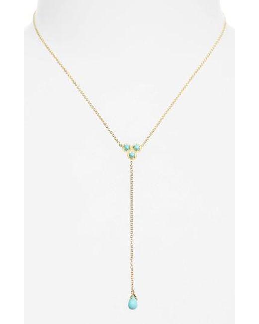 Nadri - Metallic Cleo Semiprecious Stone Necklace - Lyst
