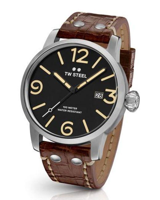 TW Steel | Multicolor Maverick Leather Strap Watch for Men | Lyst