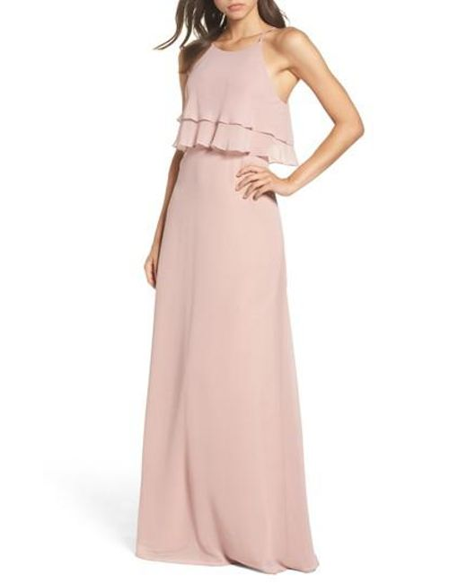 Jenny Yoo | Pink Charlie Ruffle Bodice Gown | Lyst