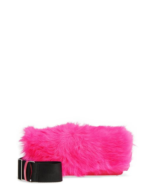 3.1 Phillip Lim - Pink Ray Genuine Shearling Crossbody Bag - - Lyst