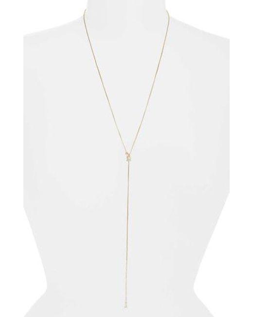 Nadri - Metallic Jute Lariat Necklace - Lyst