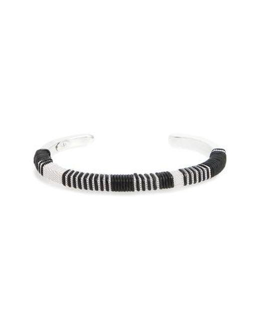 Gas Bijoux | Black Tomboy Cuff Bracelet | Lyst