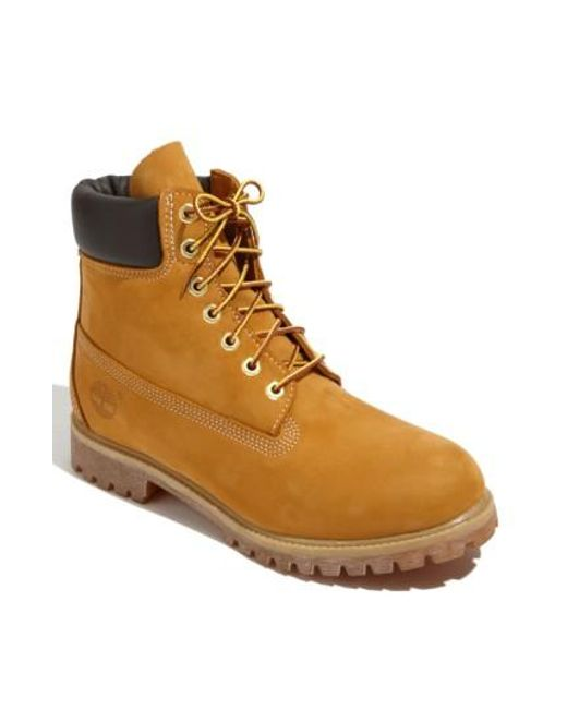 Timberland | Brown 'six Inch Classic Boots Series - Premium' Boot for Men | Lyst