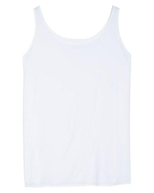 Eileen Fisher | White Lightweight Jersey Tank | Lyst