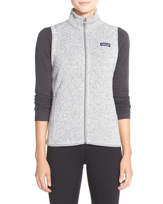 Patagonia - Gray Better Sweater Fleece Vest - Lyst