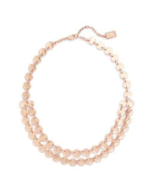 Karine Sultan | Metallic Ariane Coin Collar Necklace | Lyst