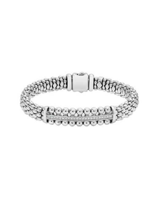 Lagos - Metallic Spark Diamond Station Bracelet - Lyst