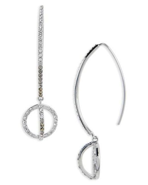 Judith Jack | Metallic Silver Sparkle Threader Earrings | Lyst