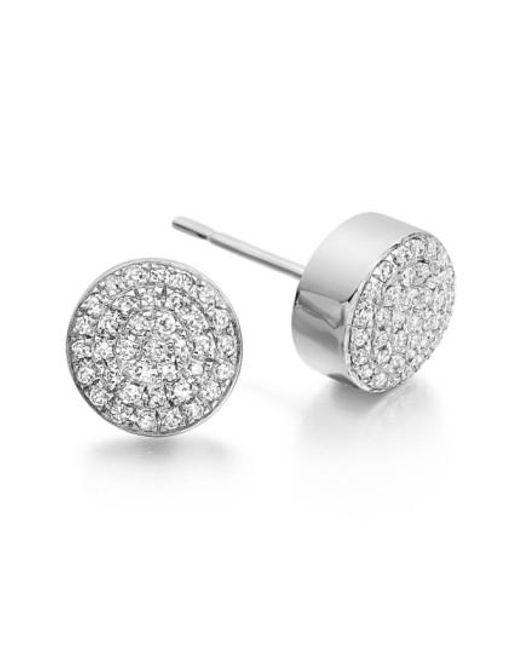 Monica Vinader   Metallic 'ava' Diamond Button Stud Earrings   Lyst