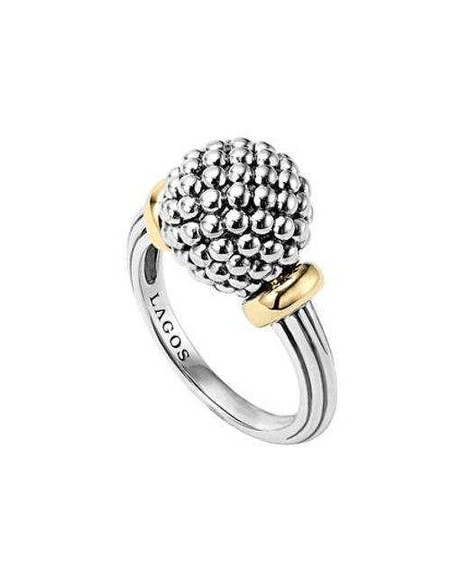 Lagos - Metallic Caviar Forever Medium Dome Ring - Lyst