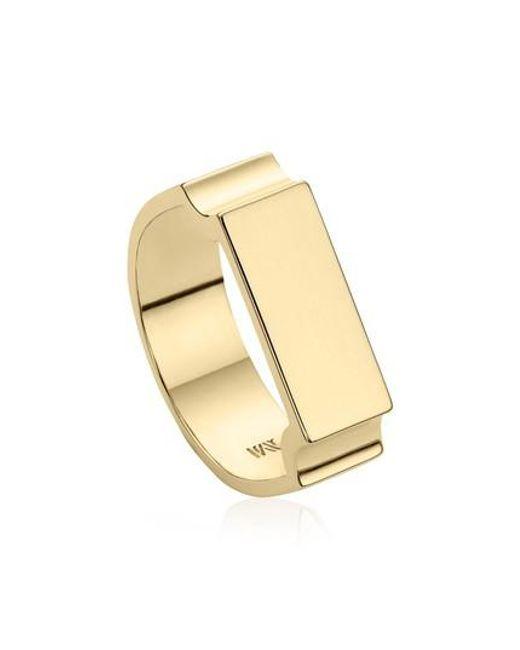 Monica Vinader - Metallic Wide Signature Ring - Lyst