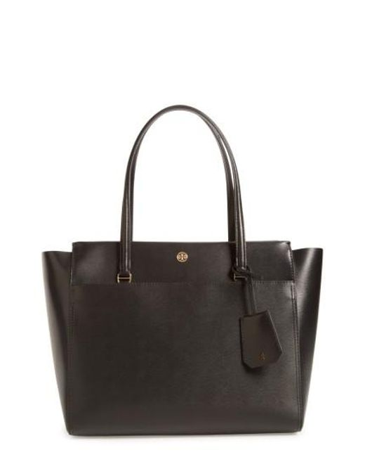 Tory Burch | Black Parker Leather Tote | Lyst