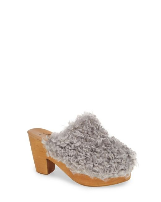 Free People - Gray Cabin Fever Clog - Lyst