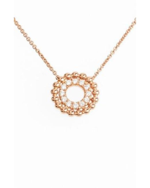 Dana Rebecca | Metallic Poppy Rae Double Disc Diamond Pendant Necklace | Lyst