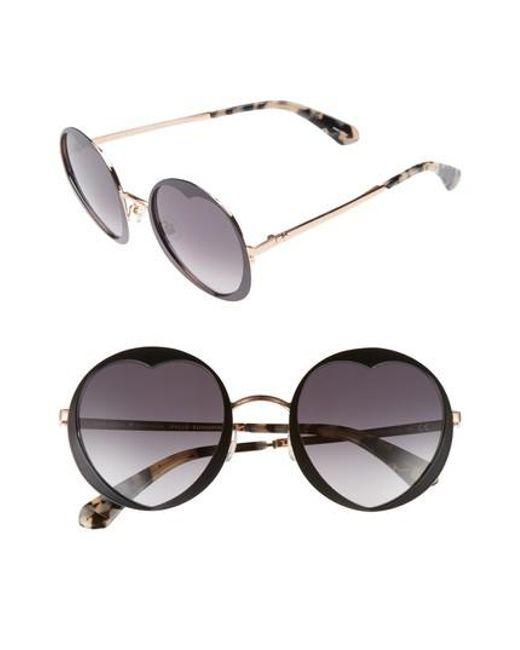 Kate Spade - Multicolor Rosaria 53mm Heart Cutout Lens Sunglasses - Lyst