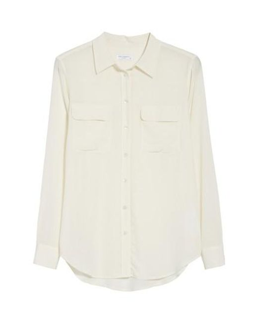 Equipment | White 'slim Signature' Silk Shirt | Lyst