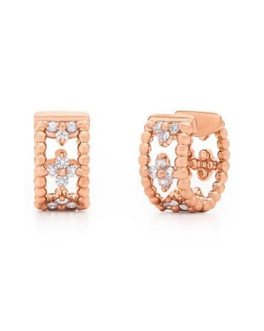 Kwiat - Metallic Diamond Hoop Earrings - Lyst
