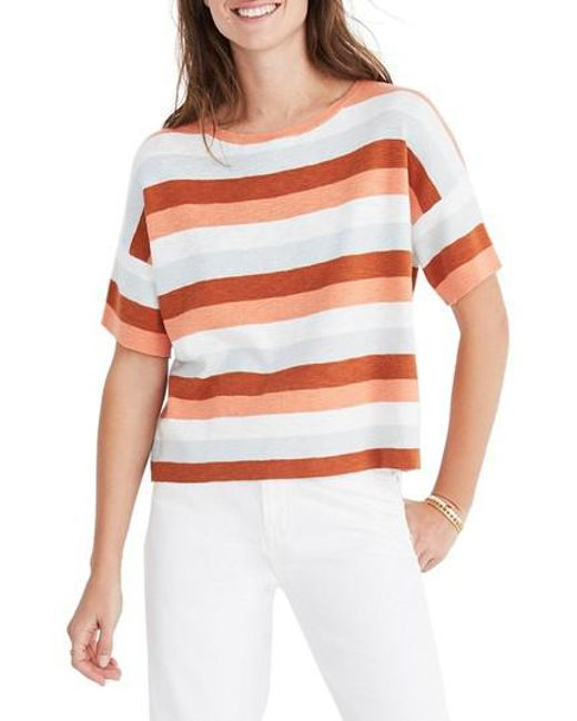 Madewell - Multicolor Stripe Boxy Sweater Tee - Lyst
