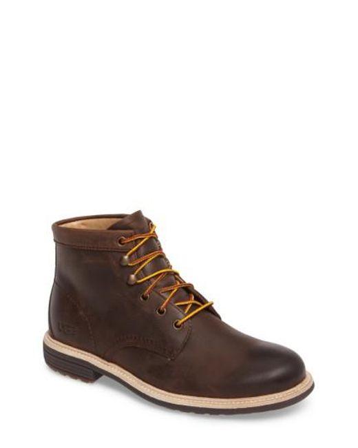 Ugg - Brown Ugg Vestmar Plain Toe Boot for Men - Lyst