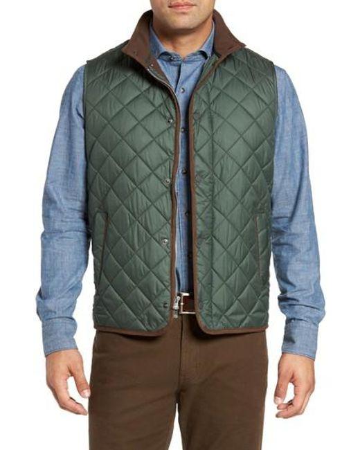Peter millar Essex Quilted Vest in Green for Men | Lyst : peter millar quilted vest - Adamdwight.com