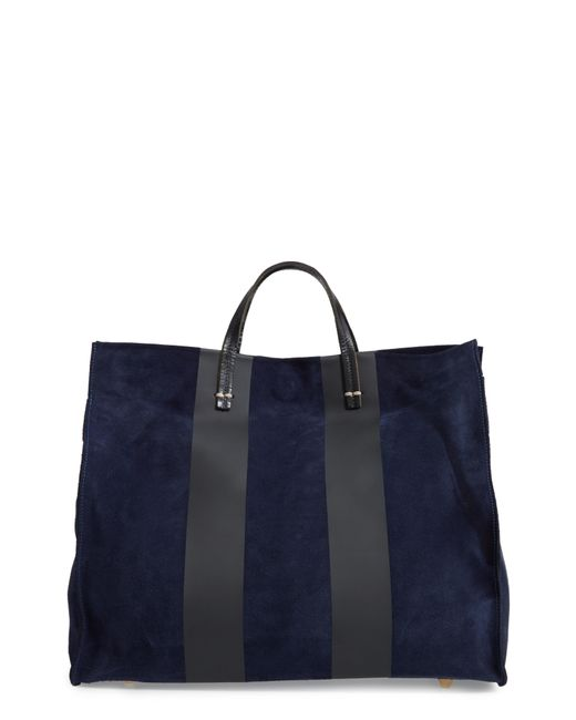 Clare V. - Blue Simple Stripe Leather Tote - - Lyst