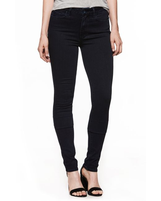 PAIGE - Blue Transcend - Leggy High Waist Ultra Skinny Jeans - Lyst