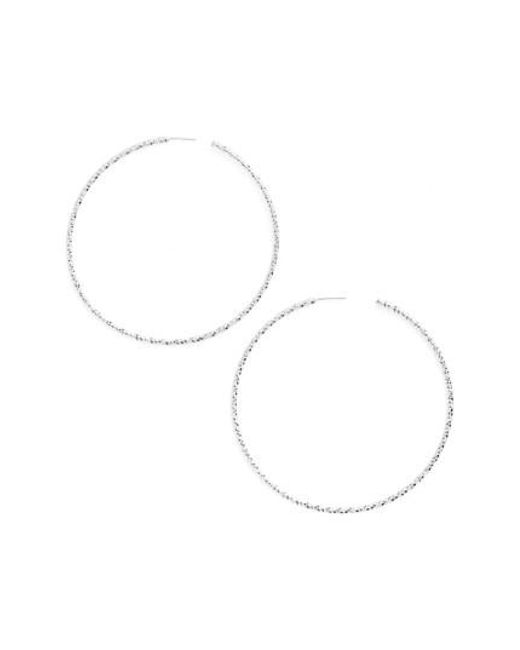 Argento Vivo - Metallic Large Hoop Earrings - Lyst