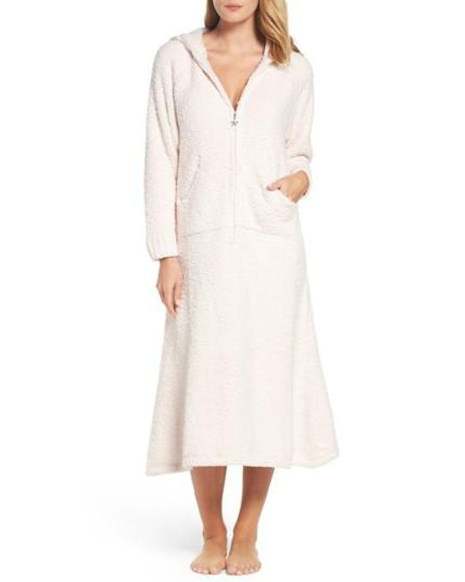 Barefoot Dreams - Pink Barefoot Dreams Cozychic Hooded Zip Robe - Lyst